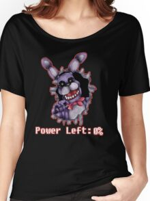 FIVE NIGHTS AT FREDDY'S-Bonnie- Power Left 0% Women's Relaxed Fit T-Shirt