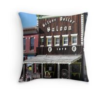 Silver Dollar Saloon, Leadville, Colorado Throw Pillow