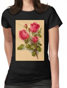 Delicate red roses - emotional life Womens Fitted T-Shirt