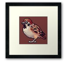 Pixel Sparrow Framed Print