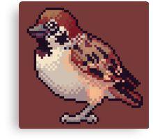 Pixel Sparrow Canvas Print