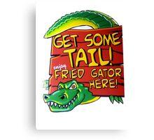 Fried Gator Tail Canvas Print