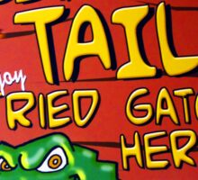 Fried Gator Tail Sticker