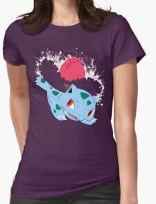 Ivysaur Splatter Womens Fitted T-Shirt