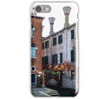 Impressions Of Venice - Side Canal Palazzi and a Charming Christmassy Bridge iPhone Case/Skin