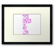 Phone is Life Framed Print