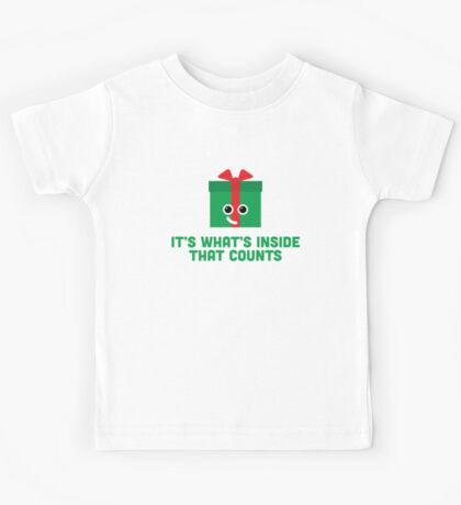 Christmas Character Building - It's whats inside… Kids Tee
