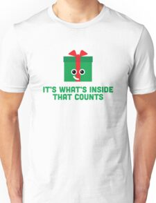 Christmas Character Building - It's whats inside… Unisex T-Shirt