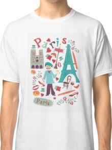 Cute symbols from Paris Classic T-Shirt