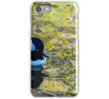 Hooded Merganser in super shiny water iPhone Case/Skin