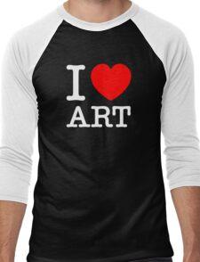 I LOVE ART Men's Baseball ¾ T-Shirt