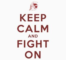 Keep Calm and Fight On (Cardinal Letters) Kids Clothes