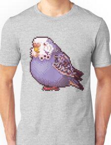 Pixel Blue Budgie Unisex T-Shirt