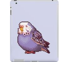 Pixel Blue Budgie iPad Case/Skin