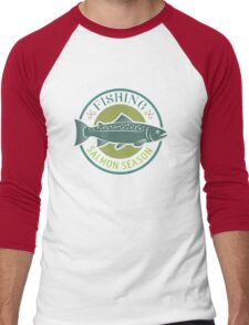 FISHING SALMON SEASON Men's Baseball ¾ T-Shirt
