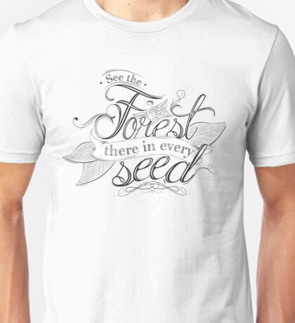 Typography - Inspirational Quote Unisex T-Shirt