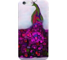 Peacock Fantasy Purple and Green iPhone Case/Skin