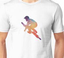 Abstract of mountain biking Unisex T-Shirt