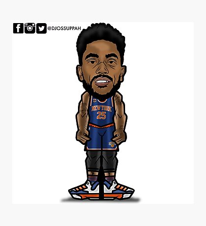 Derrick Rose Toon Photographic Print
