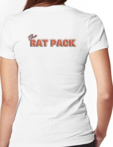 The Rat Pack, Singers, Music, Crooners, Frank Sinatra, Sammy Davis, Dean Martin. on White Womens Fitted T-Shirt