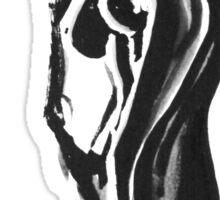 black nude Sticker