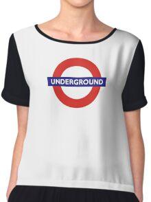 UNDERGROUND, TUBE, LONDON, GB, ENGLAND, BRITISH, BRITAIN, UK Chiffon Top