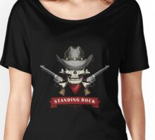 Standing rock - vintage skull !!!! Women's Relaxed Fit T-Shirt