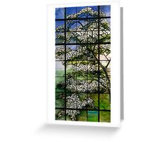 Dogwood Stained Glass Window Greeting Card