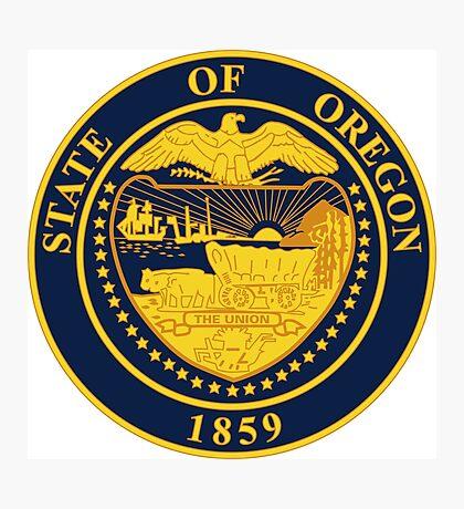 Oregon seal Photographic Print