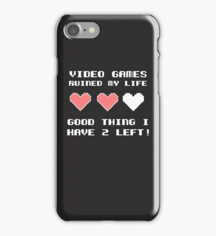 Video games ruined my life iPhone Case/Skin