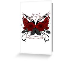 Guns and Roses RED Greeting Card