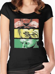 Roll Up Weed Rasta Women's Fitted Scoop T-Shirt