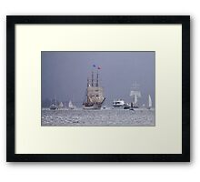 Sailing in the Rain Framed Print