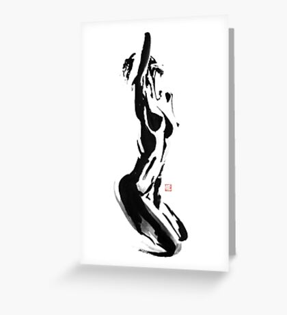 liner nude Greeting Card