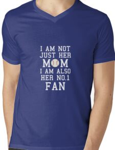 I Am Not Just Her Mom I Am Also Her No. 1 Fan Mens V-Neck T-Shirt