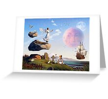 On the Shores of Floating Rock Greeting Card