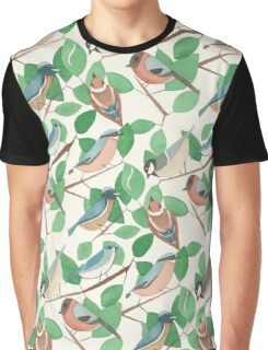 Birds and leaves Graphic T-Shirt