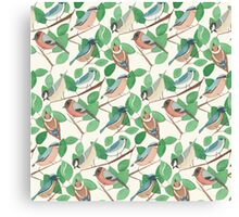 Birds and leaves Canvas Print