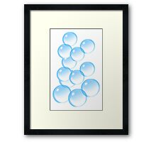 Bubbles, Bubble, I'm forever blowing Bubbles, Football, Soccer, team Framed Print