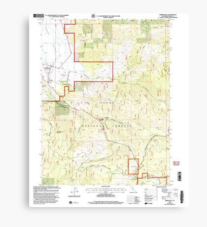 USGS TOPO Map California CA Sierraville 295201 2000 24000 geo Canvas Print