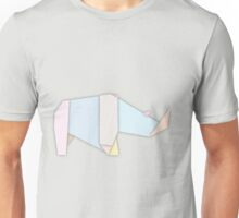 Origami Rhino Unisex T-Shirt