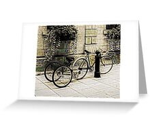 Tandem Bicycle and Flowers Greeting Card