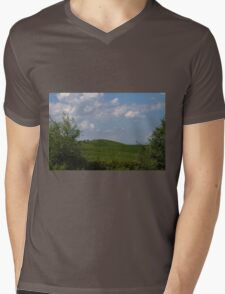 hilly landscape Mens V-Neck T-Shirt