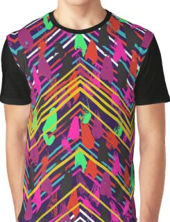 Chevron print with colorful stripes and lines Graphic T-Shirt