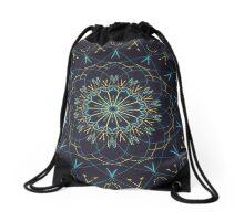 Shining Blue Drawstring Bag