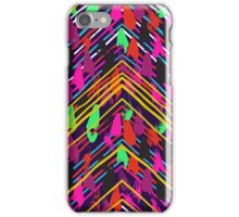Chevron print with colorful stripes and lines iPhone Case/Skin