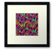 Chevron print with colorful stripes and lines Framed Print