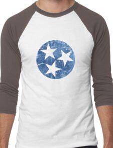 Vintage State Flag of Tennessee Men's Baseball ¾ T-Shirt