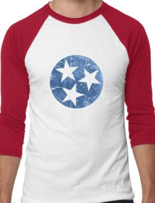 Vintage State Flag of Tennessee Men's Baseball ¾ T-Shirt