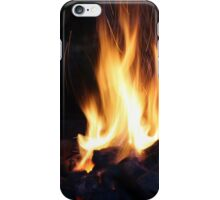 fire in the old stone fireplace iPhone Case/Skin